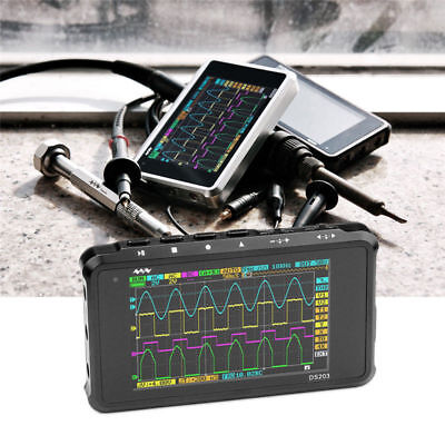 Ds203 Portable Lcd 4-channel Digital Oscilloscope Usb Interface 8mhz 72msas