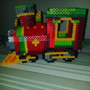 Handmade Christmas Beaded Train Set