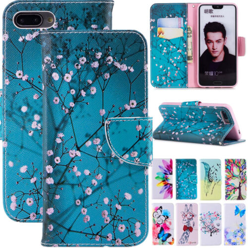 For Huawei Honor 10 Lite 7S 7X Phone Case Flip Leather Cover