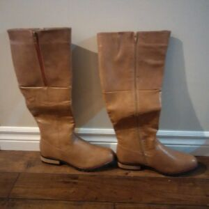 new tan boots- never been worn