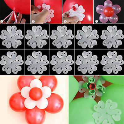 5pcs Balloon Plum Flower Clip Tie Party Birthday Wedding Balloon Decoration - Flower Balloons