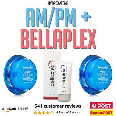 2 x HYDROXATONE AM/PM Anti Wrinkle Aging +  BELLAPLEX Collagen COMBO DISCOUNT!
