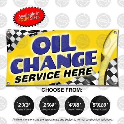 Oil Change Service Here Banner Open Sign Mechanic Shop Automotive Repair Display