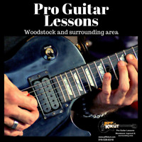 PRO GUITAR LESSONS  in Woodstock and surrounding areas.