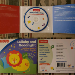 Lullaby and Goodnight Bedtime Music & Nature Sounds CD Brand New
