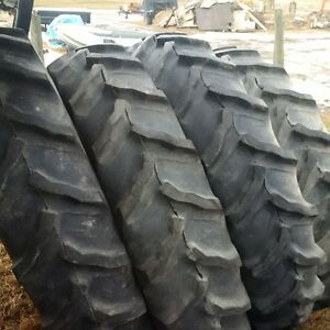 4 Goodyear Tractor Tires on Rims