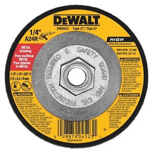 DEWALT DW4523 4-1/2-Inch by 1/4-Inch by 5/8-Inch General Purpose