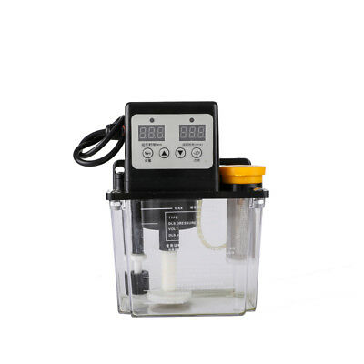 110v Automatic Electric Lubrication Pump Cnc Oiler Dual Digital Display 1.0l Us