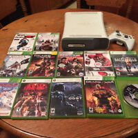 60GB XBOX 360 WITH 2 CONTROLLERS AND 12 GAMES