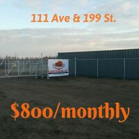 Fenced YARD in Winterburn on Henday 199 ST 118 Ave