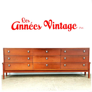 Commodes RS Teck Vintage Teak dresser 1967