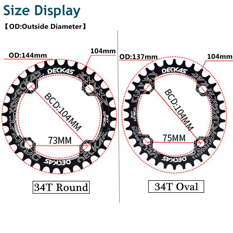 104bcd 30 teeth plate round light shimano compatible 104 bcd narrow wide