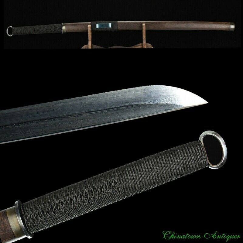 HanJian China Ring Pommel Sword Cavalryman Sabre Pattern Steel Blade Sharp #2487