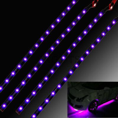 6Pcs 15LED Strip Lights Interior Exterior Glow Neon Lighting Car Truck DC12V US Exterior Strip Light