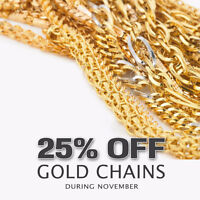 ALL GOLD CHAINS 25% OFF
