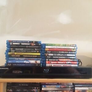 Samsung blue ray player and dvds