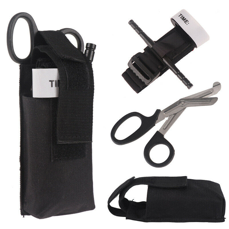 Waterproof Tourniquet Pouch Holder Tactical Shears Pouch MOLLE Belt Loop Bag US Hunting
