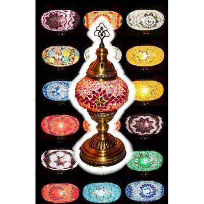 Lampara Turca pie, sobre mesa 35 cm, escritorio dormitorio - colores variados