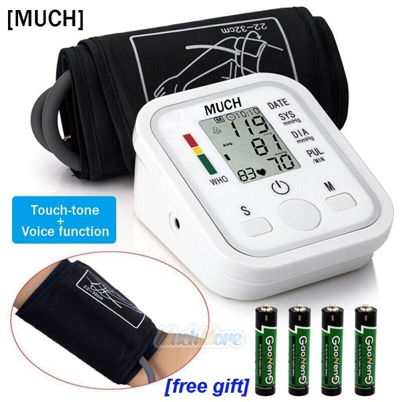 Automatic Digital LCD Upper Arm Blood Cuff Pulse Pressure Monitor Heart Meter US