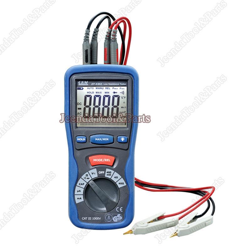 1PC CEM DT-5302 Digital High-Accuracy Kelvin Small Resistance Milliohm Meter