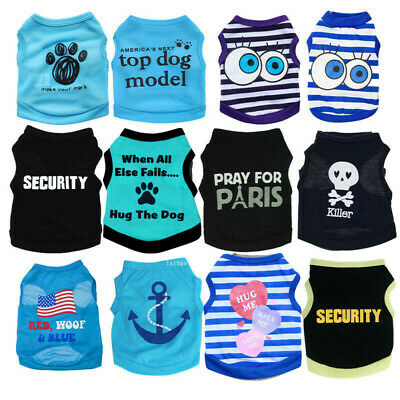 Boy Dog Cat Vest Clothes Apparel Pet Puppy T-Shirt Extra Small Medium Costume ()
