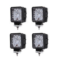 4 Pack 27 W 4 Inch Square LED Work Light Fog Light