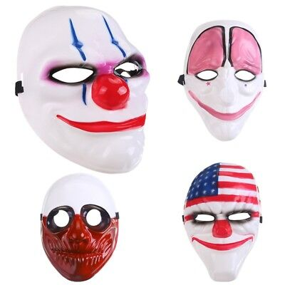 Halloween Clown Mask Scary Cosplay Plastic Costume for Masquerade Party Decor - Scary Clown Costumes For Halloween