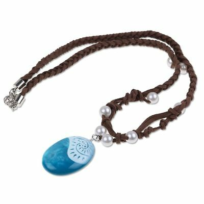 Moana Necklace Costume Cosplay Props Princess Heart of Te Fiti Girl Necklaces