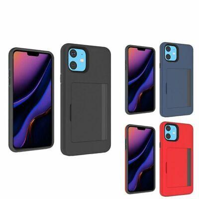 For Apple iPhone 11 Multiple Card Holder Hard TPU Hybrid Plastic Shockproof Case