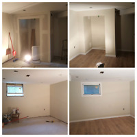 Handywoman-trim , hardwood, laminate,  and paint