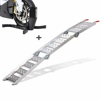Rampa de carga aluminio CS3 set soporte rueda moto Easy Plus plegable...