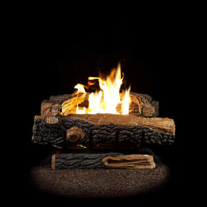 Sure Heat Mountain Vernon Oak Natural Gas Fuel Log Set 18-Inch