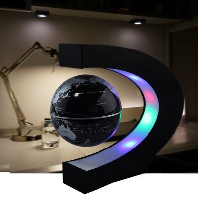 LED C Shape World Map Night Light Decoration Magnetic Levitation Floating Globe