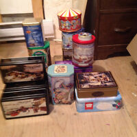 A collection of antique and collectable tin cans