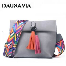 Handbag with Colorful Strap