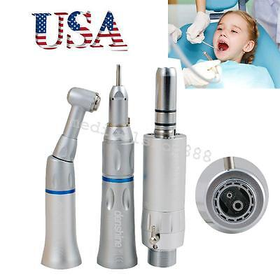 Dental Slow Low Speed Handpiece Push Button 2h E-type Complete Kit 2 Hole Aa