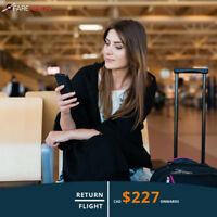 Return Flight Vancouver - Calgary $227
