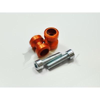 Bobbins Racingadapter Ständeraufnahme für Montageständer M10 orange Alu eloxiert