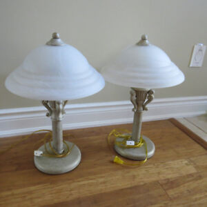 Glass shade lamps