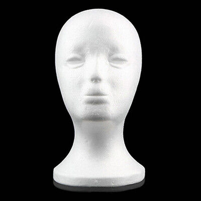 Foam Female Mannequin Head Wigs Glasses Cap Display Holder Stand Model Us
