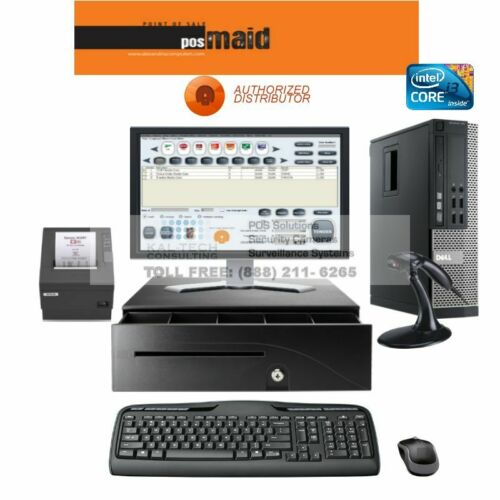 POS ECO Complete Point of Sale System DELL POINT OF SALE SYSTEM WITH SOFTWARE I3