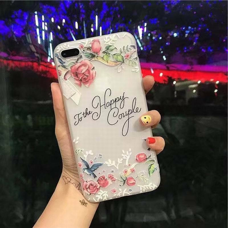 Silicone 3D Relief Flower TPU Soft Back Cover Case For iPhone XS Max X 7 8 Plus