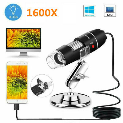 50x-1600x 8 Led Digital Microscope Camera Handheld Usb Magnification Endoscope