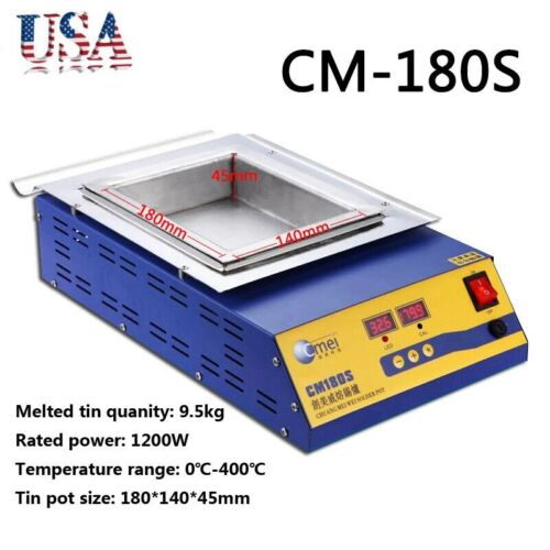 110V 1200W Digital Preheating Soldering Pot Station Tin Pot CM-180S 0°C-400°C