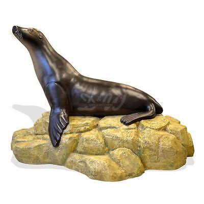 SEELÖWE kalifornisch SEA LION 235 cm WERBEFIGUR Deko Tier Figur Gastro WERBUNG