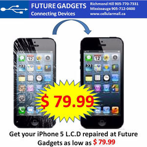 ✪ iPhone 5, 5S & 5C Screen (L.C.D) Replacement $ 69.99 ✪