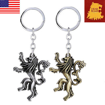 USA Game of thrones House lannister Keychains Metal Predant Keyring Fans Gift