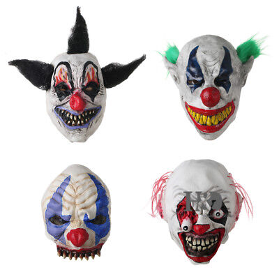 Scary Joker Clown Mask Adult Mens The Dark Knight Halloween Costume Accessory - Scary Joker Costume