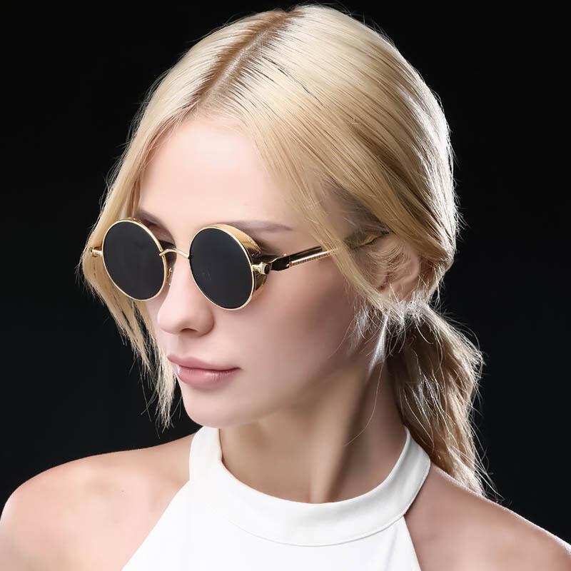 Sunglasses Steampunk Men Women Fashion Glasses Designer Retr