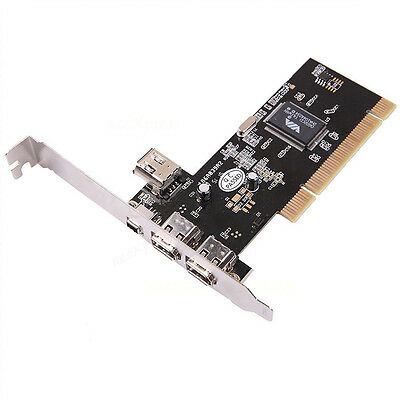 IEEE 1394 Firewire  4/6 Pin 4 Ports High Speed PCI Card for PC